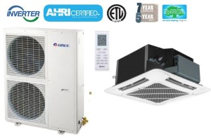 GREE UMAT42HP230V1AO UMAT42HP230V1AC 42,000 BTU SEER 16 Umatch Series Ceiling Cassette Air Conditioner Heat Pump