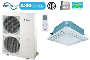 GREE UMAT48HP230V1AO UMAT48HP230V1AC 48,000 BTU SEER 16 Umatch Series Ceiling Cassette Air Conditioner Heat Pump
