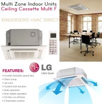 LMCN097HV 9000 BTU LG Ceiling Cassette Air Handler Unit Air Conditioner