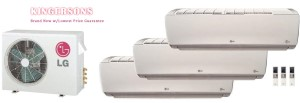 LG TRI ZONE LMU36CHV LSN090HSV4 (TWO) LSN180HSV4 Ductless Split System