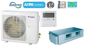 GREE UMAT36HP230V1AO UMAT36HP230V1AD 36,000 BTU SEER 16 Concealed Duct Air Conditioner Heat Pump
