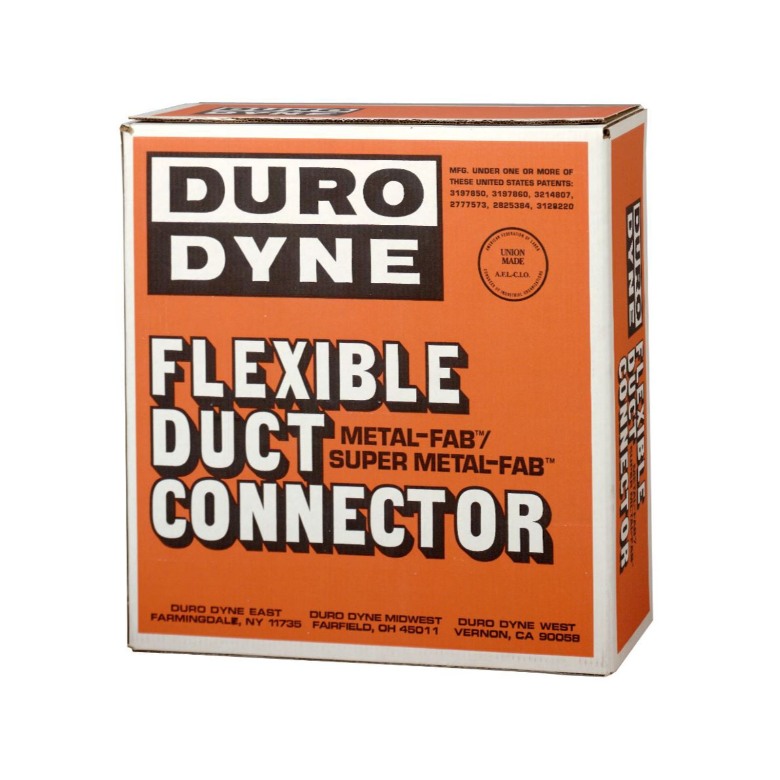 "Duro Dyne 10159 - MBX Black Excelon Flexible Duct Connector, UL #R4462, 3"" X 3"" X 3"""