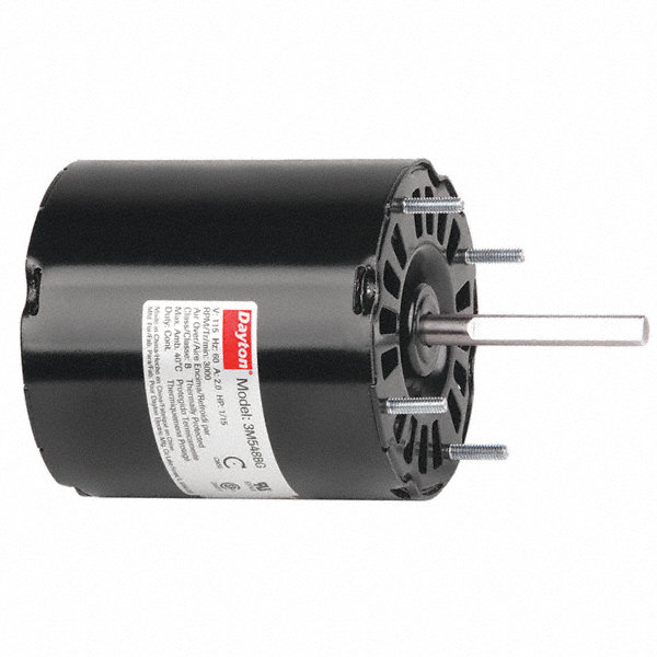 DAYTON 1/15 HP, HVAC Motor, Shaded Pole, 3000 Nameplate RPM, 115 Voltage, Frame 3.3