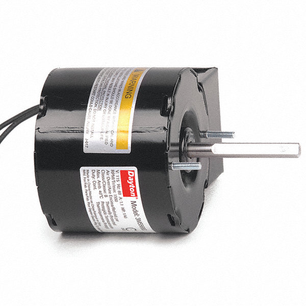DAYTON 1/40 HP, HVAC Motor, Shaded Pole, 1550 Nameplate RPM, 115 Voltage, Frame 3.3