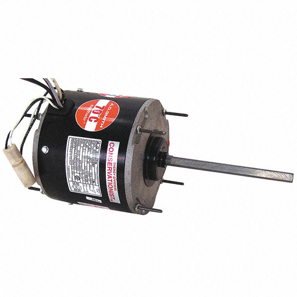 CENTURY 1/3 to CENTURY 1/6 HP Condenser Fan Motor,Permanent Split Capacitor,1075 Nameplate RPM,460 Voltage,Frame 48Y