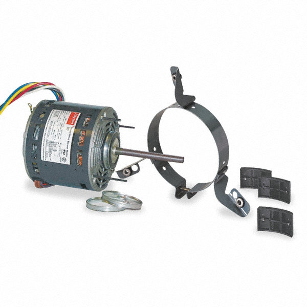 DAYTON 1/2 HP Direct Drive Blower Motor, Permanent Split Capacitor, 1075 Nameplate RPM, 115 Voltage