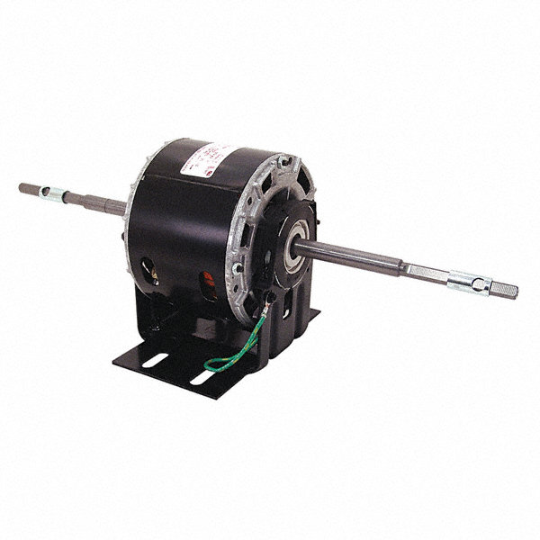 CENTURY 1/10 HP Direct Drive Motor, Permanent Split Capacitor, 1500 Nameplate RPM, 208-230 VoltageFrame 42