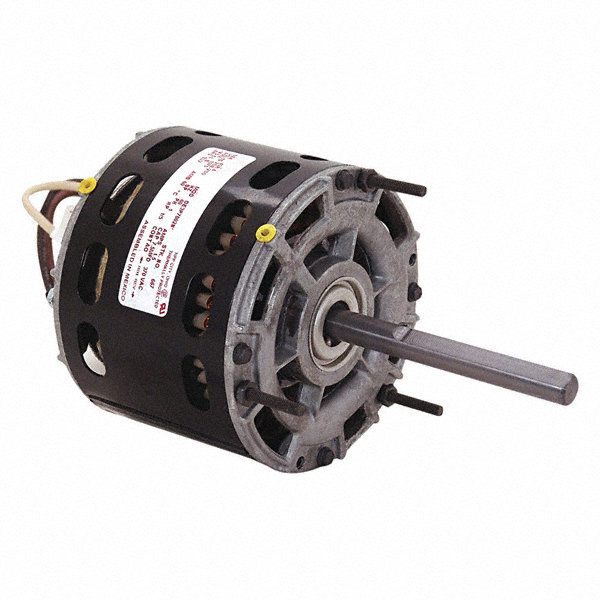 CENTURY 1/5 HP Direct Drive Motor, Permanent Split Capacitor, 1075 Nameplate RPM, 208-230 VoltageFrame 42