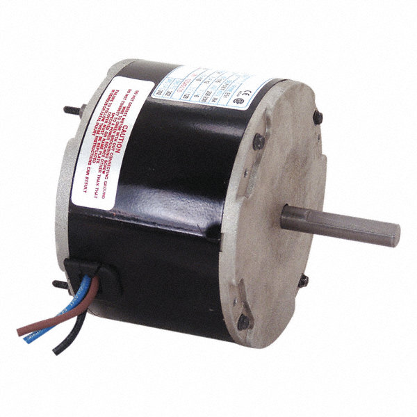 CENTURY 1/6 HP Condenser Fan Motor, Permanent Split Capacitor, 825 Nameplate RPM, 208-230 VoltageFrame 48Y