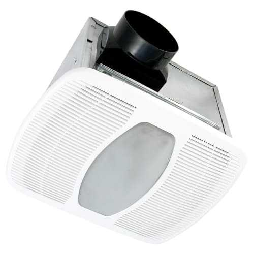 Air King LEDAK100H 100 CFM 2.0 Sones Ceiling Mounted LED Lit Humidity Sensing Ex