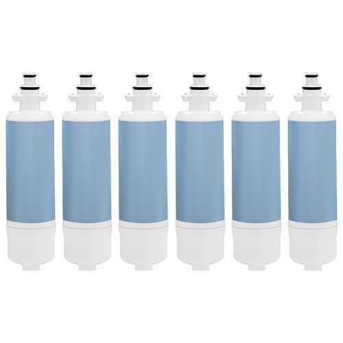 Replacement Water Filter Cartridge for Kenmore Refrigerator 70322 / 23 /29 - (6 Pack)