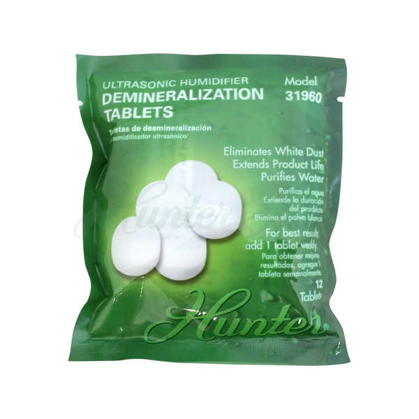 Hunter Ultrasonic Humidifier 12-pack Demineralization Tablets - White
