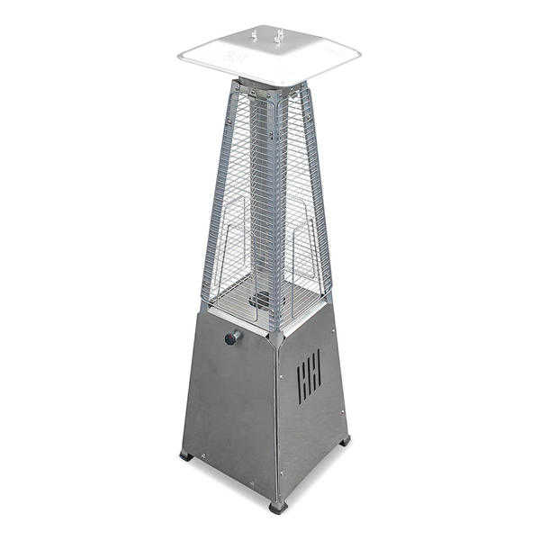 Hiland Portable Glass Tube Patio Heater - Stainless Steel