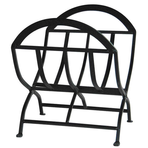 Black Wrought Iron Log Rack