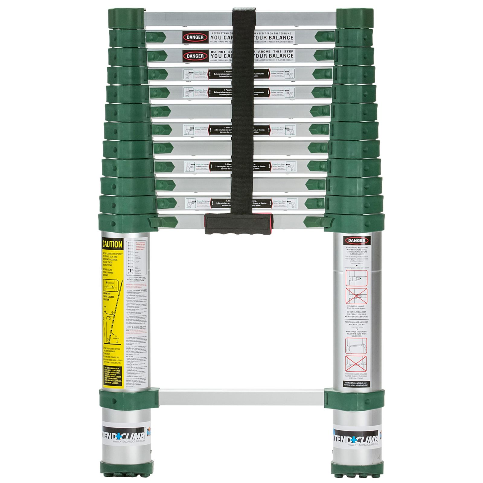 Core Distribution 780P - a® Pro Series Telescoping Ladder, Opens To 12 1/2 Feet