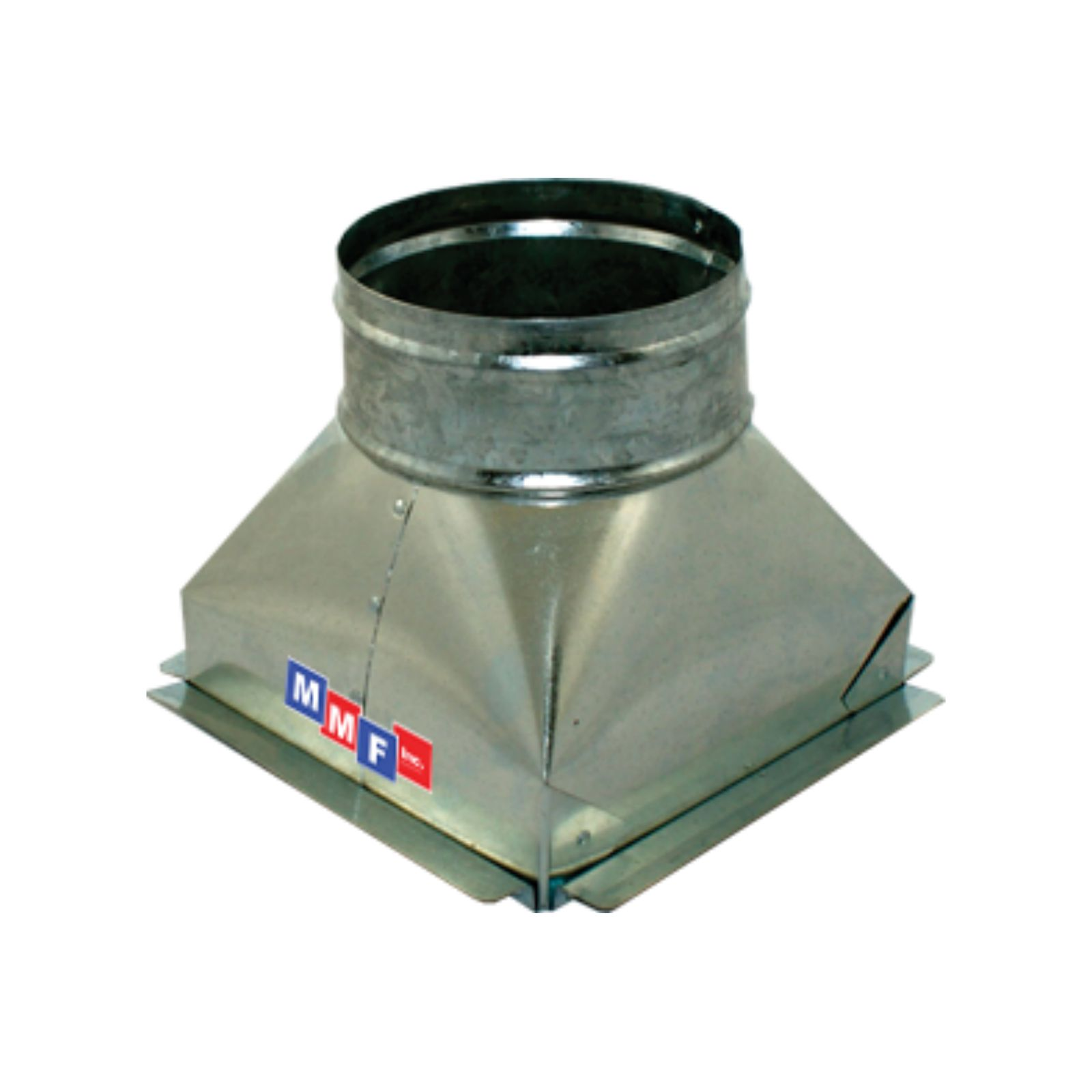 "Modular Metal BTSCG080806P - Sealed Tapered Ceiling Box 08"" X 08"" X 06"" Round - With Plaster Ground Flange - 30 Gauge"