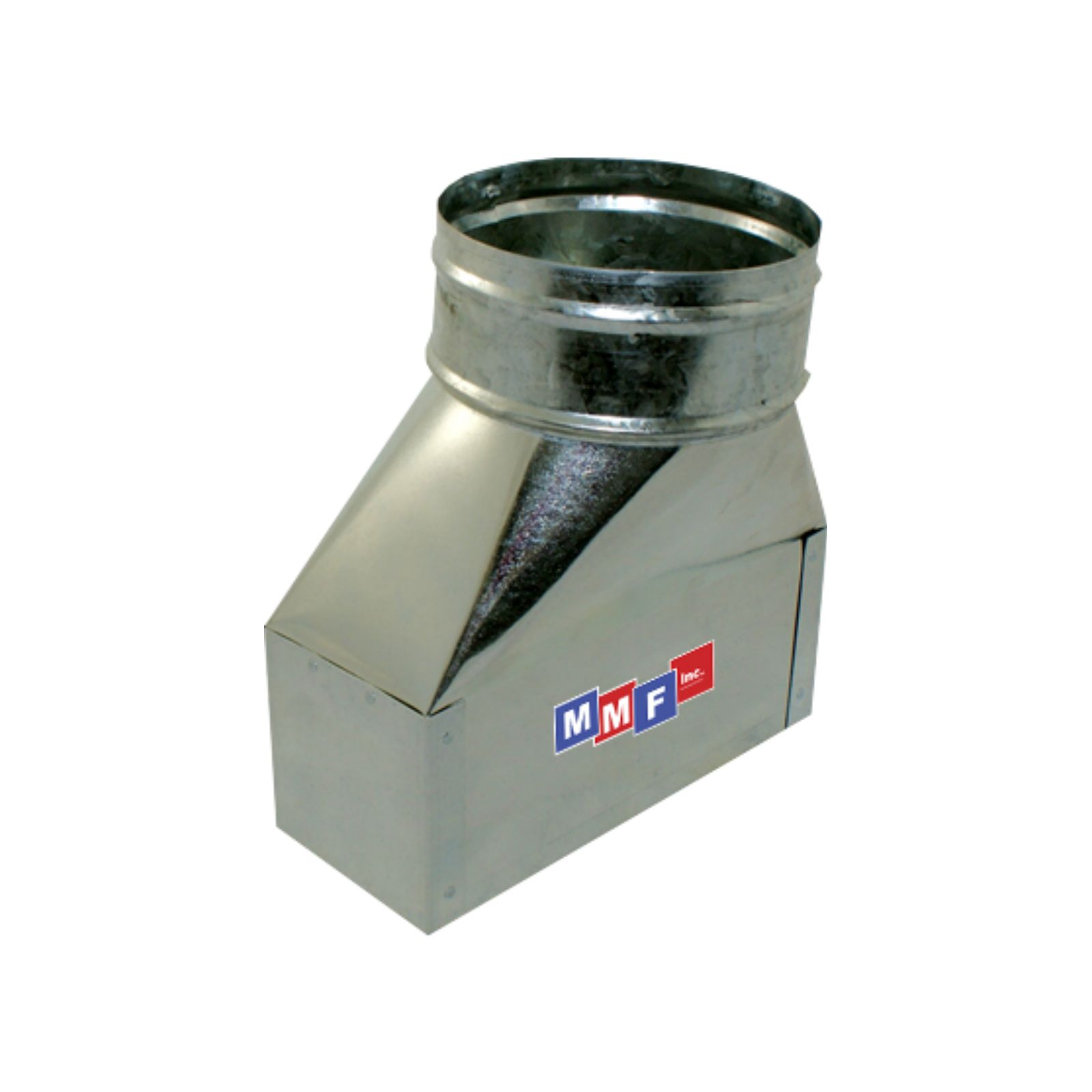 "Modular Metal BTXGS120608A - Sealed Perimeter Straight Boot - 30 Ga - 12"" X 06"" To 08"" Round - 6"" Start Collar"